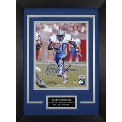 Barry Sanders Signed Detroit Lions 14x18.5 Custom Framed Photo (PSA COA)