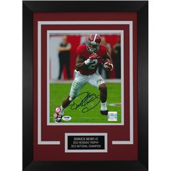 Derrick Henry Signed Alabama Crimson Tide 14x18.5 Custom Framed Photo (PSA COA)