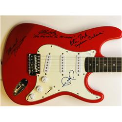 """The Monkees"" Multi-Signed Fender Squire Electric Guitar with (4) Signatures Including Davy Jones, M"