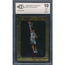 1997-98 SP Authentic #128 Tim Duncan RC