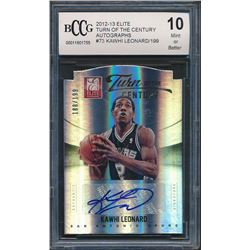 2012-13 Elite Turn of the Century Autographs #73 Kawhi Leonard (BCCG 10)