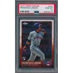 2015 Topps Chrome #202 Francisco Lindor SP RC (PSA 10)