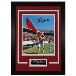 Baker Mayfield Signed Oklahoma Sooners 14x18.5 Custom Framed Photo (Beckett COA)