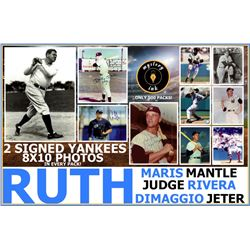 Mystery Ink New York Yankees 8x10s Mystery Box Edition! (2) Two Yankees Signed 8x10 Photos In Every