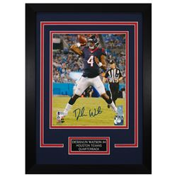 Deshaun Watson Signed Houston Texans 14x18.5 Custom Framed Photo (Beckett COA)