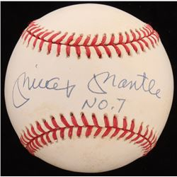 "Mickey Mantle Signed OAL Baseball Inscribed ""No. 7"" (JSA LOA)"