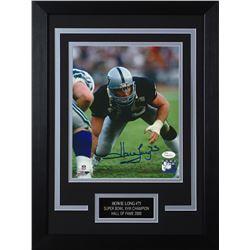 Howie Long Signed Los Angeles Raiders 14x18.5 Custom Framed Photo (JSA COA)