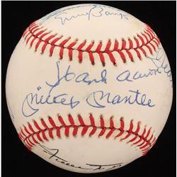 500 Home Run Club OAL Baseball Signed by (11) With Ted Williams, Mickey Mantle, Eddie Mathews, Reggi