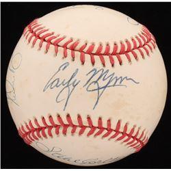300 Win Pitchers OAL Baseball Signed by (8) With Early Wynn, Tom Seaver, Nolan Ryan, Phil Niekro, Wa