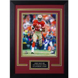 Jerry Rice Signed San Francisco 49ers 14x18.5 Custom Framed Photo (Beckett COA)