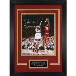 Hakeem Olajuwon Signed Houston Rockets 14x18.5 Custom Framed Photo (JSA COA)