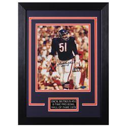 Dick Butkus Signed Chicago Bears 14x18.5 Custom Framed Photo (TriStar Hologram)