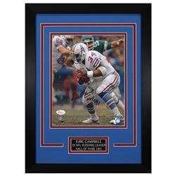 Earl Campbell Signed Houston Oilers 14x18.5 Custom Framed Photo (JSA COA)