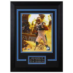 Luke Kuechly Signed Carolina Panthers 14x18.5 Custom Framed Photo (Beckett COA)