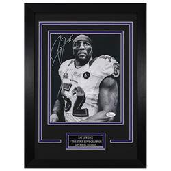 Ray Lewis Signed Baltimore Ravens 14x18.5 Custom Framed Photo (JSA COA)