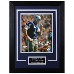 Bob Lilly Signed Dallas Cowboys 14x18.5 Custom Framed Photo (JSA COA)