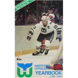 1985-1986 Hartford Whalers Yearbook Signed (14) with Ron Francis, Kevin Dineen, Paul Lawless, Torrie