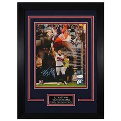 J.J. Watt Signed Houston Texans 14x18.5 Custom Framed Photo (JSA COA)
