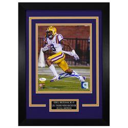 Odell Beckham Jr. Signed LSU Tigers 14x18.5 Custom Framed Photo (JSA COA)
