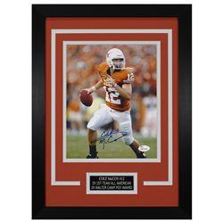Colt McCoy Signed Texas Longhorns 14x18.5 Custom Framed Photo (JSA COA)