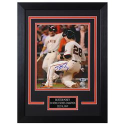 Buster Posey Signed San Francisco Giants 14x18.5 Custom Framed Photo (Beckett COA)
