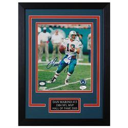 Dan Marino Signed Miami Dolphins 14x18.5 Custom Framed Photo (JSA COA)