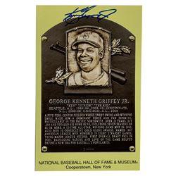 Ken Griffey Jr. Signed Gold Hall of Fame Postcard (TriStar Hologram)