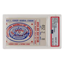 Nolan Ryan Signed Authentic 1969 All-Star Game Ticket Stub (PSA Encapsulated)