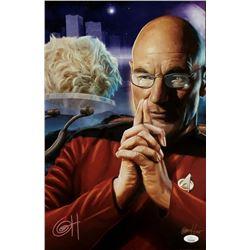 "Greg Horn Signed ""Star Trek - Captain Picard"" 11x17 Lithograph (JSA COA)"