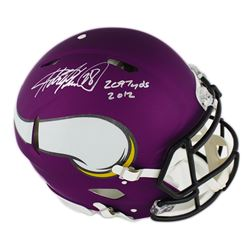 """Adrian Peterson Signed Minnesota Vikings Full-Size Authentic On-Field Speed Helmet Inscribed """"2,097"""