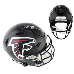 Deion Sanders Signed Atlanta Falcons Full-Size Authentic On-Field SpeedFlex Helmet (Radtke COA)