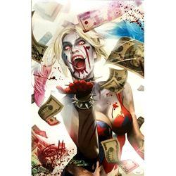 "Greg Horn Signed ""Harley Quinn's Blood Lust"" 11x17 Lithograph (JSA COA)"