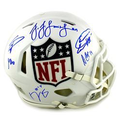 NFL Shield Logo Full-Size Authentic On-Field Speed Helmet Signed by (6) with JuJu Smith-Schuster, Ge