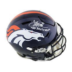 "Terrell Davis Signed Denver Broncos Full-Size Authentic On-Field SpeedFlex Helmet Inscribed ""SB XXXI"