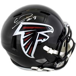 Calvin Ridley Signed Atlanta Falcons Full-Size Speed Helmet (Radtke COA)