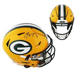 Aaron Rodgers Signed Green Bay Packers Full-Size Authentic On-Field SpeedFlex Helmet (Radtke COA)