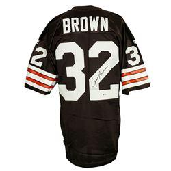 Jim Brown Signed Cleveland Browns Wilson Jersey (Beckett COA)
