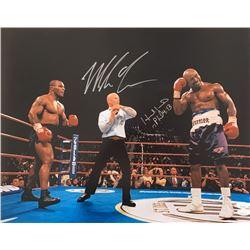 Mike Tyson  Evander Holyfield Signed 16x20 Photo (JSA COA)