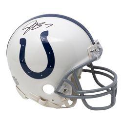 Jacoby Brissett Signed Colts Mini Helmet (JSA COA)