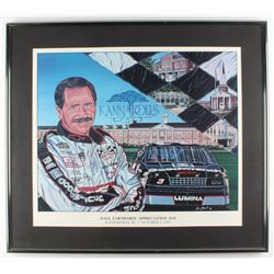 """Sam Bass Signed LE """"Dale Earnhardt Appreciation Day"""" 26.75x30.25 Custom Framed Lithograph Display (P"""