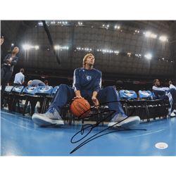 Dirk Nowitzki Signed Dallas Mavericks 11x14 Photo (JSA COA)