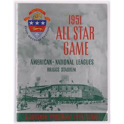 1951 All-Star Game Program Signed By (5) with Yogi Berra, Ralph Kiner, Don Newcombe, Waldon Westlake