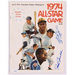 "Brooks Robinson  Johnny Grubb Signed 1974 All-Star Game Program Inscribed ""HOF 83"" (JSA COA)"