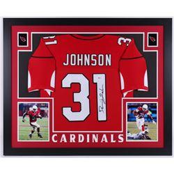 David Johnson Signed 35x43 Custom Framed Jersey (Beckett Hologram)