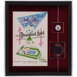 Disneyland 20x22.5x2 Custom Framed Shadowbox Display with Ashtray  Employee Pin