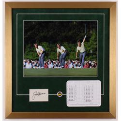 Jack Nicklaus Signed 20x21 Custom Framed Cut Display with Official Scorecard  Pin (JSA COA)