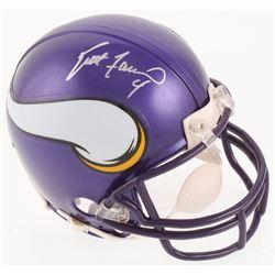 Brett Favre Signed Minnesota Vikings Mini-Helmet (Radtke COA)