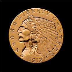 1912 $2.50 Indian Head Quarter Eagle Gold Coin