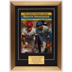 "Pete Rose Signed 14x19 Custom Framed Magazine Display Inscribed ""1964 ROY"" (JSA COA)"
