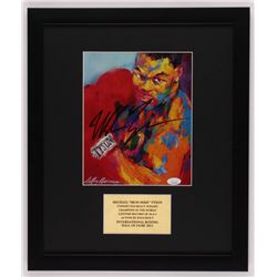 "LeRoy Neiman ""Mike Tyson"" Signed 16x19 Custom Framed Print Display (JSA COA)"